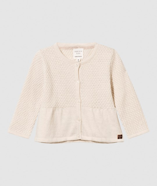 Carrément Beau Cardigan Knitted Ivory Ivory