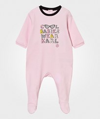 Karl Lagerfeld Kids Footed Baby Body Pale Pink Pale Pink