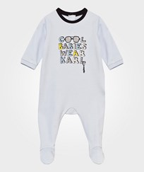 Karl Lagerfeld Kids Footed Baby Body Pale Blue Pale Blue