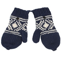 Scotch & Soda Mittens Knitted Blue