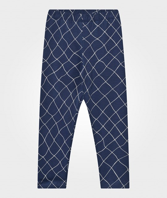 Emma och Malena Kid Leggings Fishnet Print INDIGO