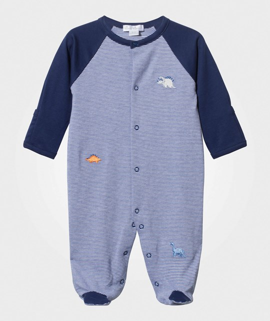 Kissy Kissy Jurassic Journey Footed Baby Body Stripe Navy Navy