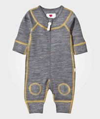 Reima Lauha Wool One-Piece Mid Grey/Yellow mid grey-yellow
