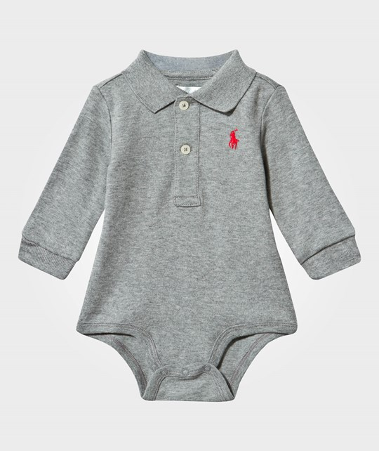 Ralph Lauren Long Sleeve Bodysuit Pp Classic Grey Heather Classic Grey Heather