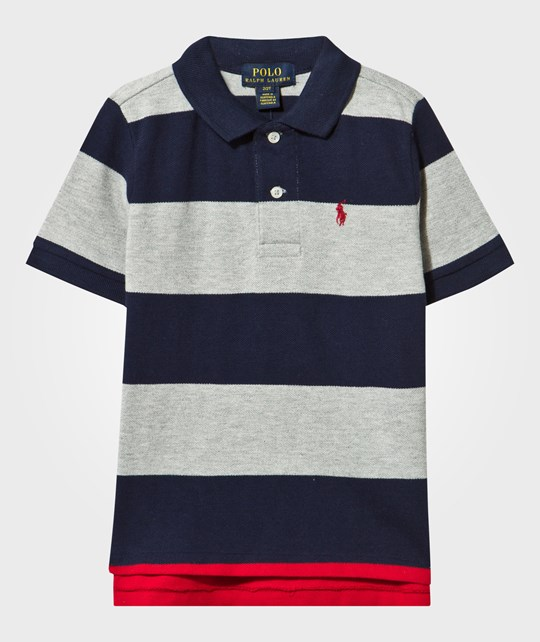 Ralph Lauren Short Sleeve Stripe Polo Andover Heather Multi Andover Heather Multi