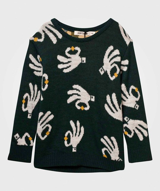 Bobo Choses Hand Trick Sweater Garden Topiary