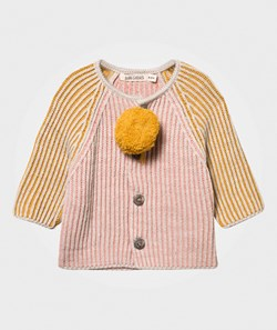 Bobo Choses Knitted Baby Cardigan Pink