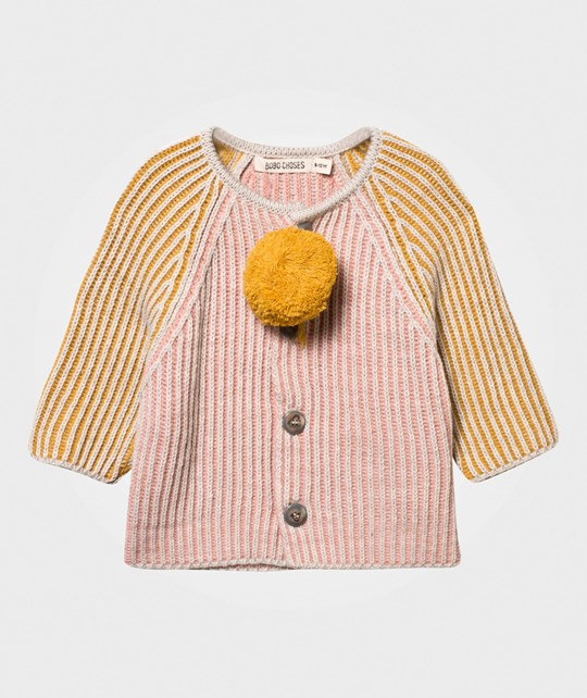 Bobo Choses Knitted Baby Cardigan Pink Pink