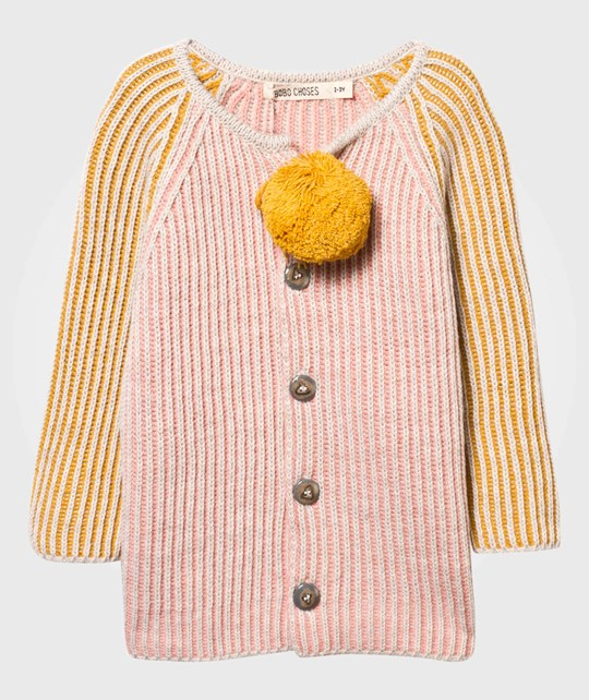 Bobo Choses Knitted Cardigan Rosa Pink