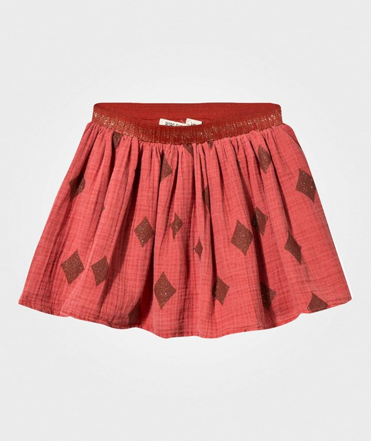 Bobo Choses Diamond Sky Flared Skirt Orange Rust