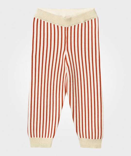 Bobo Choses Red Knitted Baby Leggings Red
