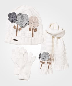 Mayoral Flower Corsage Knitted Set Cream