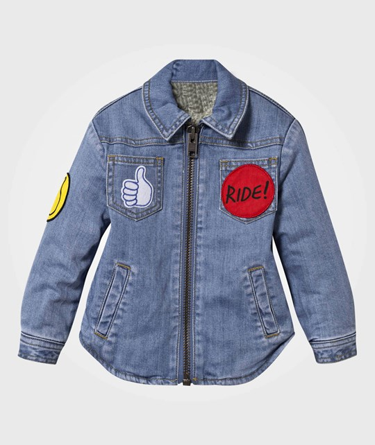 Stella McCartney Kids Merle Jacket Pale Denim Badges Pale Denim