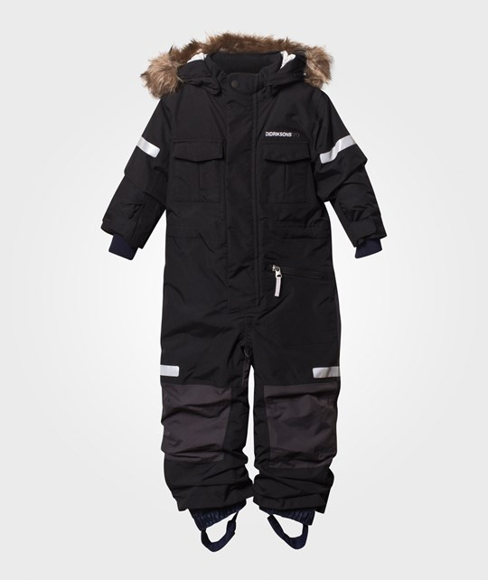 Didriksons Migisi Kid's Coverall Black Black