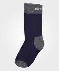 Didriksons Fotis Kid's Wool/Terry Socks Navy Navy