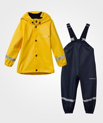 Didriksons Slaskeman Kid's Rain Set Yellow, Yellow