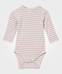 Hust&Claire Baby Body Bamboo White/Pink Dusty Rose