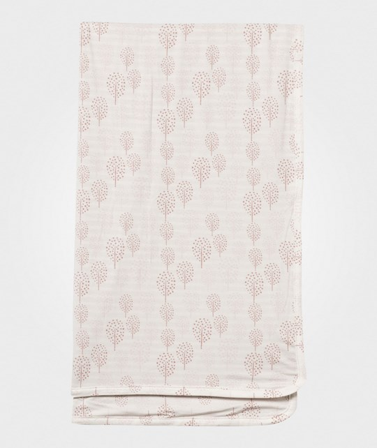 Hust&Claire Baby Blanket Bamboo White/Pink Dusty Rose