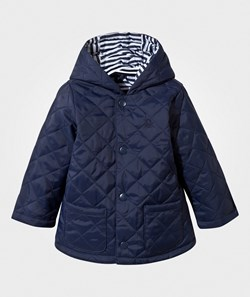 United Colors of Benetton Quilted Barn Jacket Navy