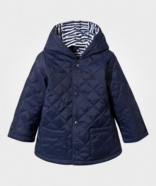 United Colors of Benetton Quilted Barn Jacket Navy Navy