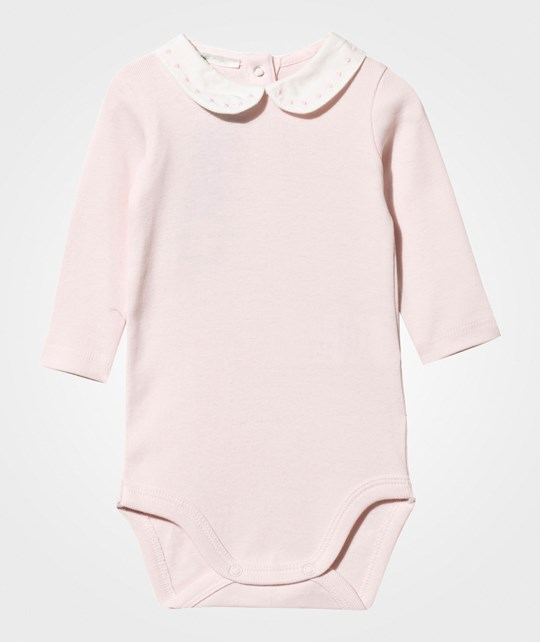 United Colors of Benetton Long Sleeved Baby Body With Collar Pink Pink
