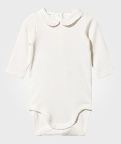 United Colors of Benetton Long Sleeved Body With Collar White