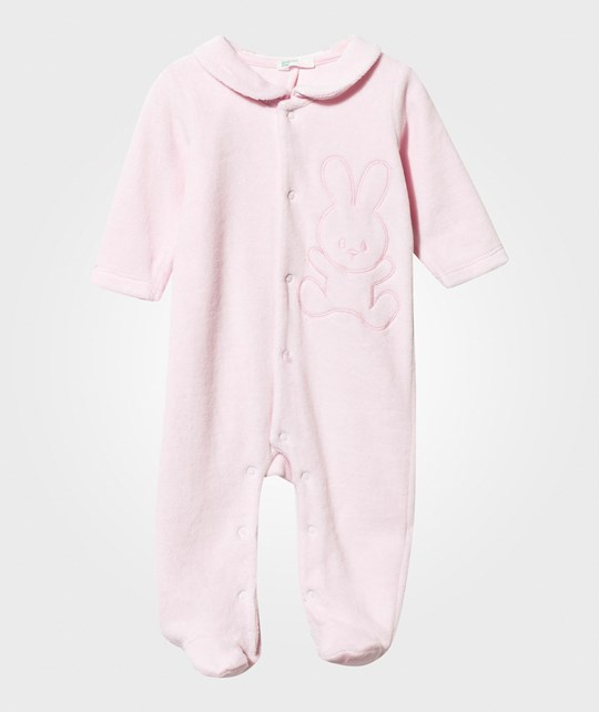 United Colors of Benetton Bunny Footed Baby Body With Collar Pink Pink