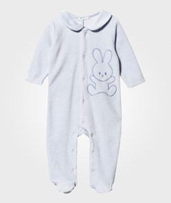United Colors of Benetton Bunny Footed Baby Body With Collar Blue