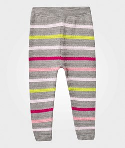 United Colors of Benetton Knitted Striped Pants Grey