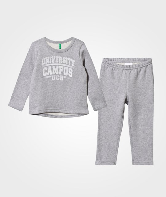 United Colors of Benetton Two-Piece Set Grey Black