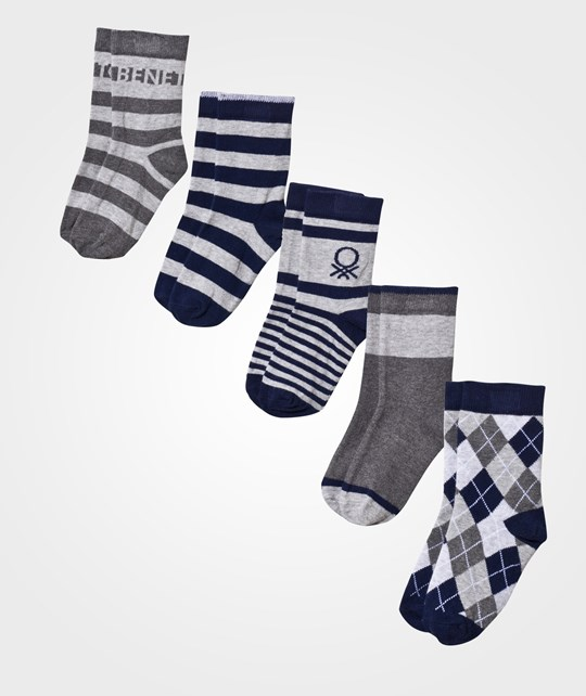 United Colors of Benetton Socks 5-Pack Navy/Grey Navy