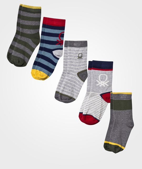 United Colors of Benetton Socks 5-Pack Blue/Gray Blue Blue