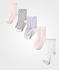 United Colors of Benetton Socks 5-Pack Pink/Grey Pink