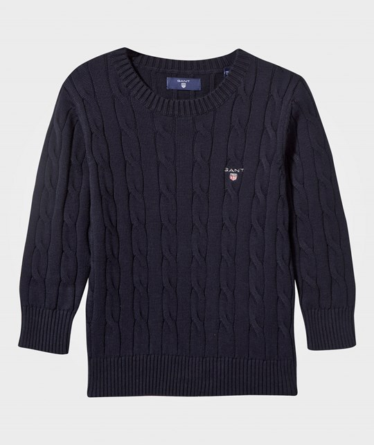 GANT Cotton Cable-Knit Sweater Navy Navy