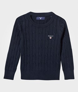 GANT Cotton Cable-Knit Sweater Navy