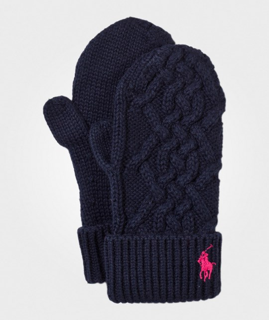 Ralph Lauren Cable-Knit Mittens Hunter Navy Hunter Navy