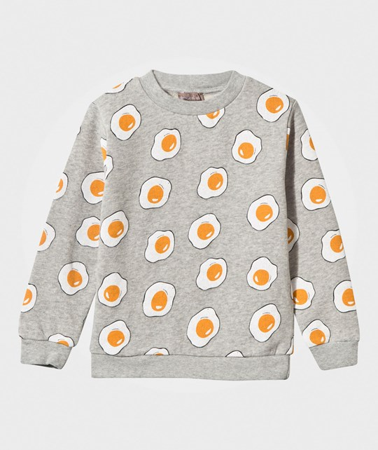 Emile et Ida Eggs Sweat Shirt Grey Heather Gris chiné (all over eggs)