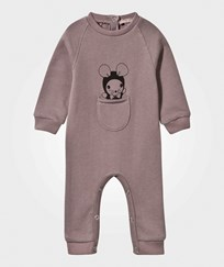 Emile et Ida Mouse Baby One-Piece in Glazed Brown Marron glacé