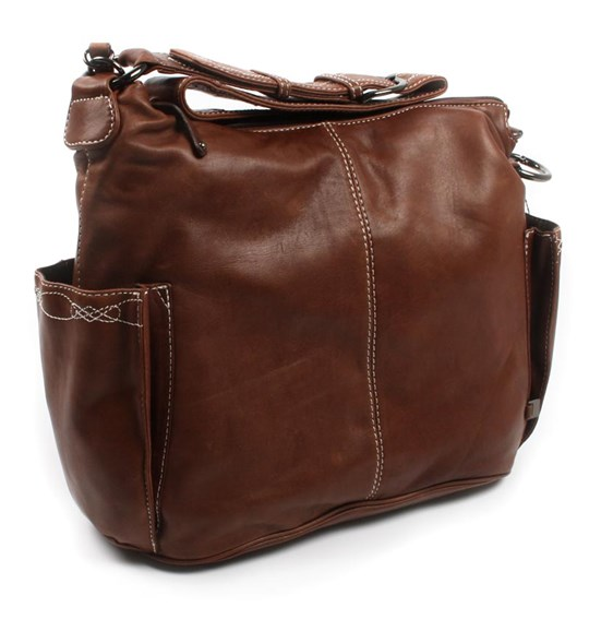 OiOi Hobo Lamb Leather Chocolate