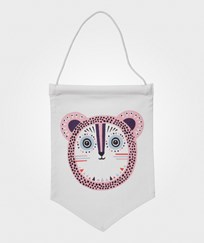 ferm LIVING Billy Bear Wall Flag - Rose Bear