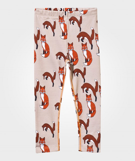 Filemon Kid Leggings Foxes in Sesame Sesame