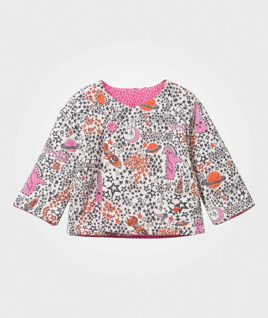 The Bonnie Mob Reversible Padded Baby Jacket, Aop Print Pink Night Sky Pinks Night Sky