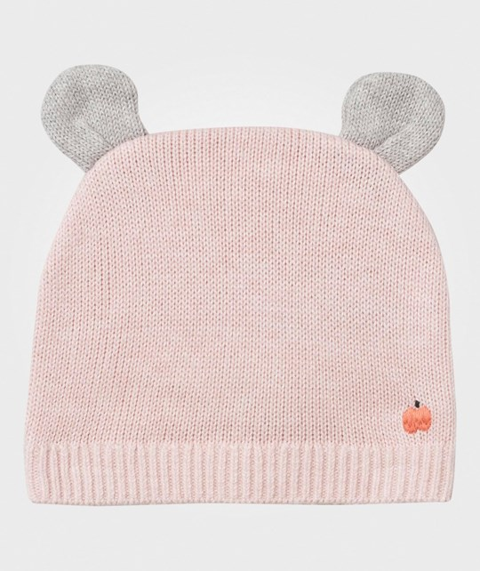 The Bonnie Mob Elky Hat with Ears Pale Pink Pale Pinks