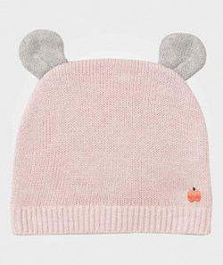The Bonnie Mob Elky Hat with Ears Pale Pink