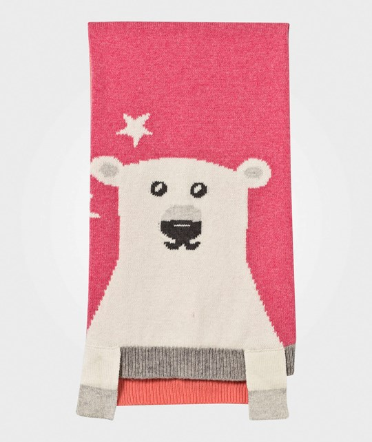 The Bonnie Mob Hunter Polar Bear Intarsia Knit Blanket Pinks Print
