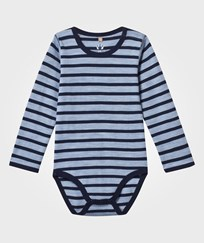 Hust&Claire Merino Wool Baby Body Striped Blue Blue Dawn Melange