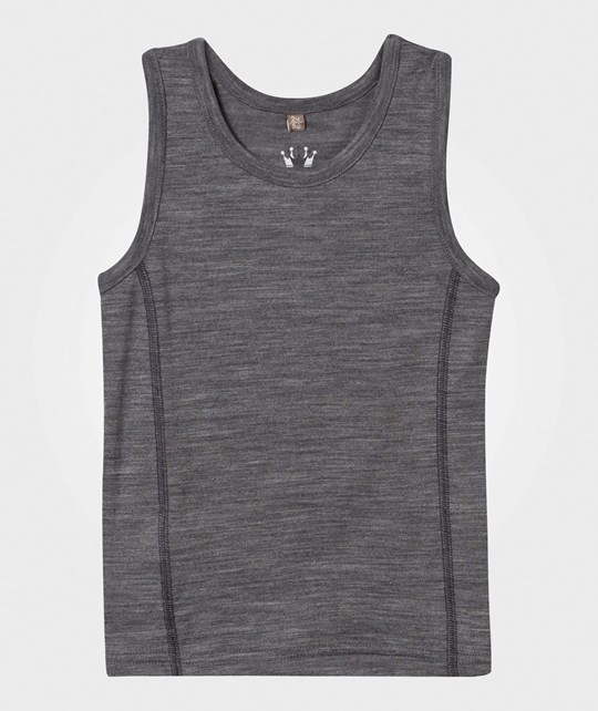 Hust&Claire Wool Silk Tank Top Grey WOOL GREY