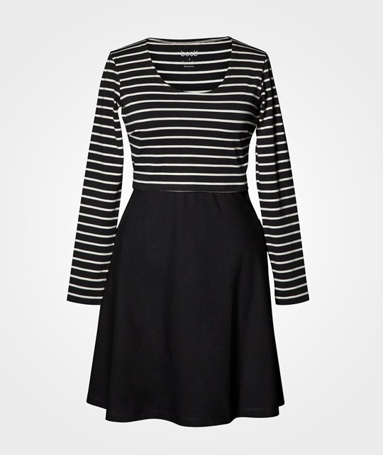 Boob Simone Dress Wide Skirt Stripe Sailor Black/Pearl Stripe Sailor Black/Pearl