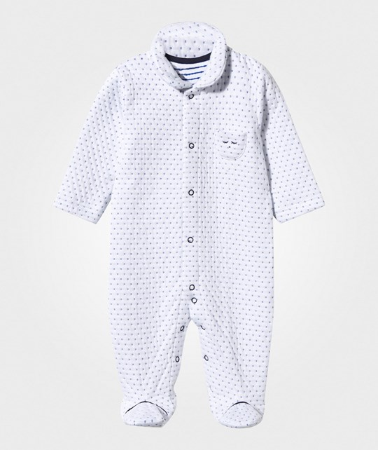 Livly Jaquard Onesie Dotted Blue dotted blue jaquard