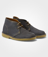 United Colors of Benetton Lace Up Leather Boots Grey Black